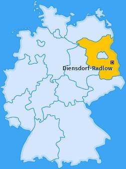 Karte von Diensdorf-Radlow