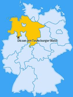 Karte von Dissen am Teutoburger Wald
