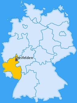Karte von Dreifelden