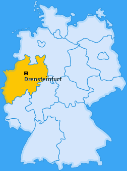 Karte von Drensteinfurt