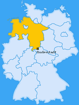 Karte von Duderstadt