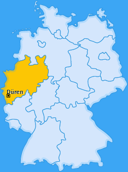 Karte von Düren