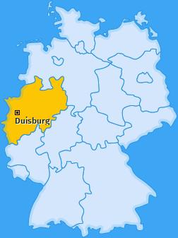 Karte von Duisburg