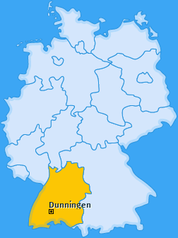 Karte von Dunningen