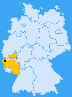 Karte von Duppach