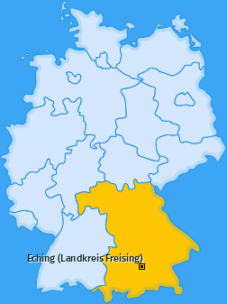 Karte von Eching (Landkreis Freising)