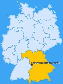 Karte von Ehingen (Mittelfranken)