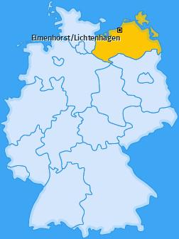 Karte von Elmenhorst/Lichtenhagen