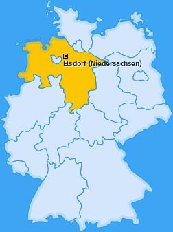 Karte von Elsdorf (Niedersachsen)
