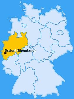 Karte von Elsdorf (Rheinland)