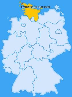 Karte von Emmelsbüll-Horsbüll