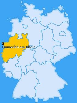 Karte von Emmerich am Rhein
