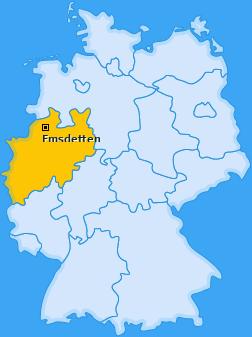 Karte von Emsdetten
