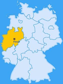 Karte von Ense