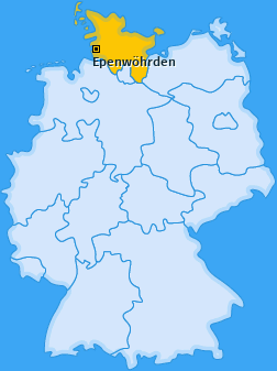 Karte von Epenwöhrden