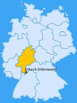 Karte von Erbach (Odenwald)