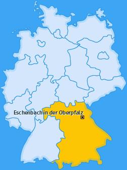 Karte von Eschenbach in der Oberpfalz