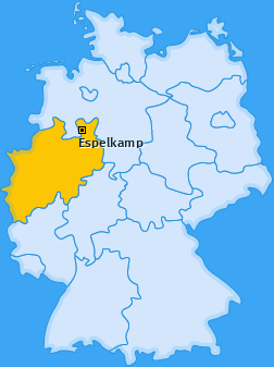 Karte von Espelkamp