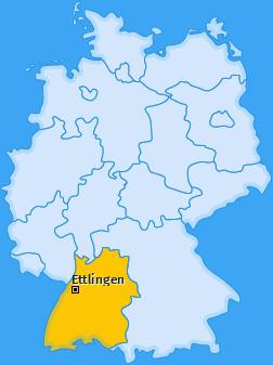 Karte von Ettlingen