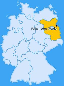 Karte von Falkenberg (Mark)