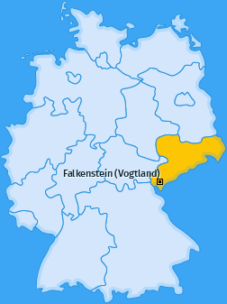 Karte von Falkenstein (Vogtland)
