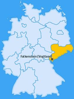 Karte Oberlauterbach Falkenstein (Vogtland)