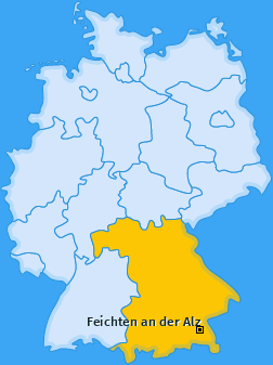 Karte von Feichten an der Alz