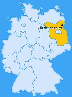 Karte von Flieth-Stegelitz