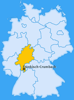 Karte von Fränkisch-Crumbach