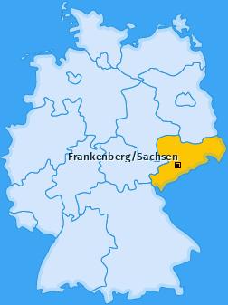 Karte von Frankenberg/Sachsen
