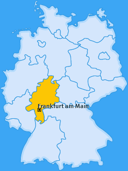 Karte Ostend Frankfurt am Main