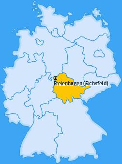 Karte von Freienhagen (Eichsfeld)