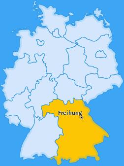 Karte von Freihung