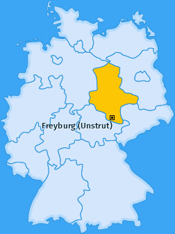 Karte von Freyburg (Unstrut)