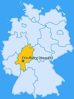 Karte von Friedberg (Hessen)
