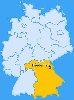 Karte von Friedenfels