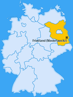 Karte von Friedland (Niederlausitz)