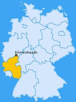 Karte von Friesenhagen