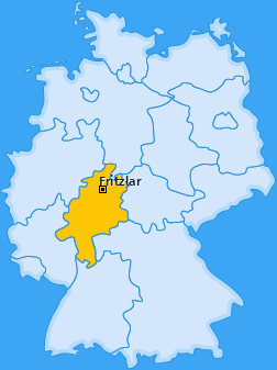 Karte von Fritzlar