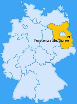 Karte von Fürstenwalde/Spree