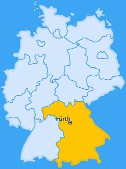 Karte von Fürth