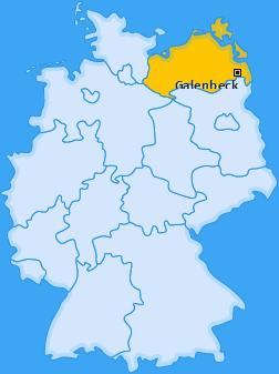 Karte von Galenbeck