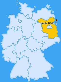 Karte von Gartz (Oder)