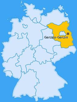 Karte von Garzau-Garzin