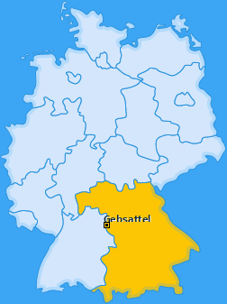 Karte von Gebsattel