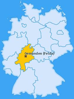 Karte von Gemünden (Felda)