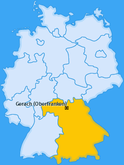 Karte von Gerach (Oberfranken)