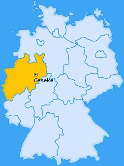 Karte von Geseke