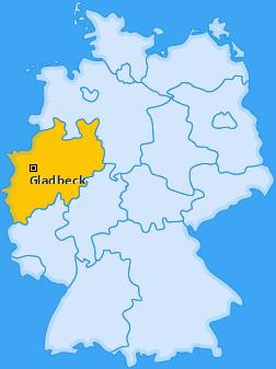 Karte von Gladbeck