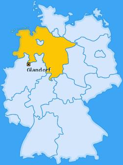 Karte von Glandorf